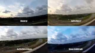 getlinkyoutube.com-Xiaomi yi vs Sj4000 wifi vs GoPro 2 vs GoPro 4black Backlight Comparison