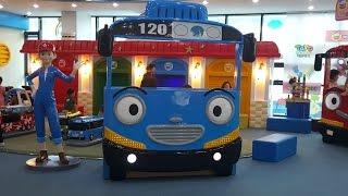 getlinkyoutube.com-꼬마버스 타요 키즈 카페. 어린이 놀이터 테마파크. Tayo Bus Kids Playground Amusement Детская игровая комната Тайо