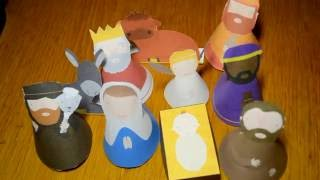 getlinkyoutube.com-Como fazer um presépio Papel - Natal Passo a Passo - Natividad de papel