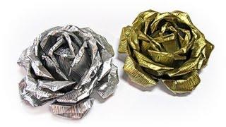 getlinkyoutube.com-Rosas de aluminio. Aluminium roses.