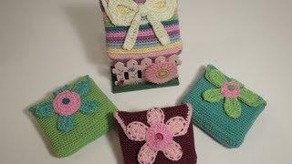 getlinkyoutube.com-Crochet pouch for feminine stuff كروشيه شنطة للأغراض النسائية