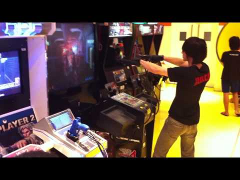 Crazy Guy At Arcade