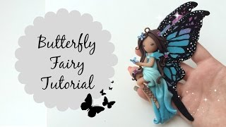 getlinkyoutube.com-TUTORIAL: Polymer Clay Butterfly Fairy ♡ Doll Chibi