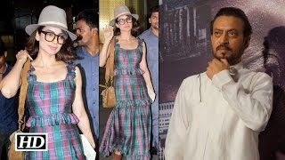 Kangana shyly smiled on Irrfan Khan's teasing comment