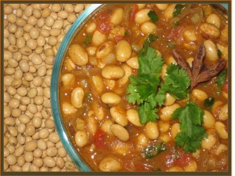 soya bean curry, soya recipe (indian veg), easy soya bean recipe