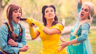 getlinkyoutube.com-BEAUTY AND THE BEAST vs FROZEN DANCE BATTLE - DISNEY PRINCESSES COLLIDE! // ScottDW