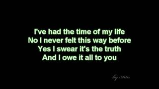 getlinkyoutube.com-Dirty dancing - Time of my life (lyrics)