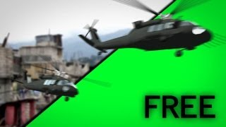 getlinkyoutube.com-Green Screen Helicopter Free EXTREME !!