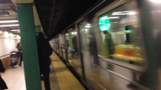 New York, New York - 6 Train Arrives at the Canal Street Station HD (2016)