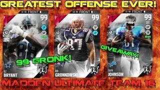 getlinkyoutube.com-GREATEST OFFENSE EVER!? 99 GRONK & CRAZY HAIL MARY! Madden Ultimate Team 16