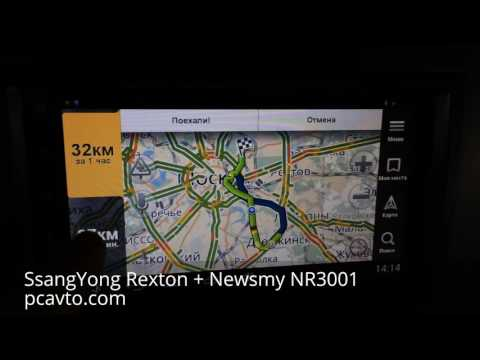 SsangYong Rexton + магнитола на Android Newsmy NR3001 (pcavto.com)