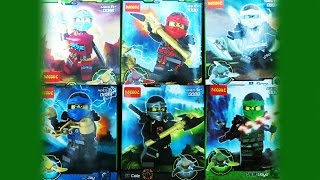 getlinkyoutube.com-Lego Ninjago Deepstone Robes DeCool Bootleg 0086 0091 Review