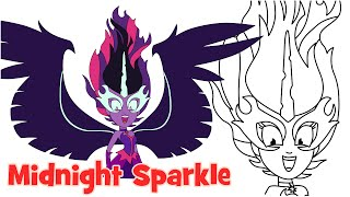 getlinkyoutube.com-How to draw Midnight Sparkle Friendship Games My Little Pony Equestria Girls step by step easy