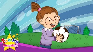 getlinkyoutube.com-Let's play soccer. baseball. (Suggestion) - Education English song with lyrics - Sing a song