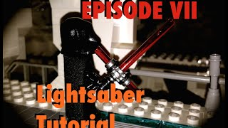 getlinkyoutube.com-Lego Star Wars Custom Episode 7 VII Lightsaber Tutorial Jedi Sith