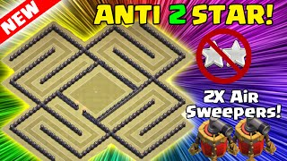 Clash of Clans - BEST TH9 WAR BASE IN HISTORY!? AMAZING ANTI-EVERYTHING + ANTI 2 STAR LAYOUT!]