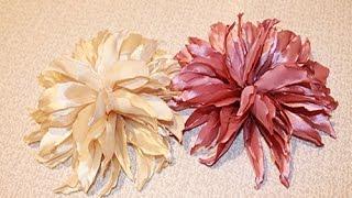 getlinkyoutube.com-Цветок канзаши - ГЕОРГИНА