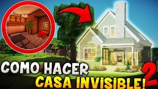 getlinkyoutube.com-MINECRAFT: COMO HACER UNA CASA INVISIBLE 100% MEJORADA | ES SUPER DIFÍCIL ENCONTRARLA!