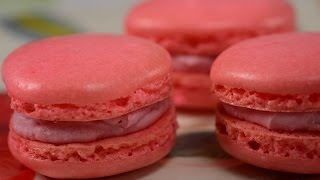 getlinkyoutube.com-Raspberry Macarons Recipe Demonstration - Joyofbaking.com