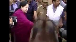 getlinkyoutube.com-Chief Minister J Jayalalitha Narrow escape from an Elephant attack at Mudumalai