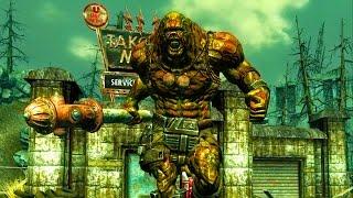 getlinkyoutube.com-Fallout 4 Battle #2 -  Super Mutant Behemoth vs. Legendary Deathclaw (Strongest enemies)