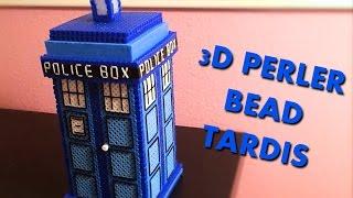 getlinkyoutube.com-3D Perler Bead Tardis! (With thread for details)
