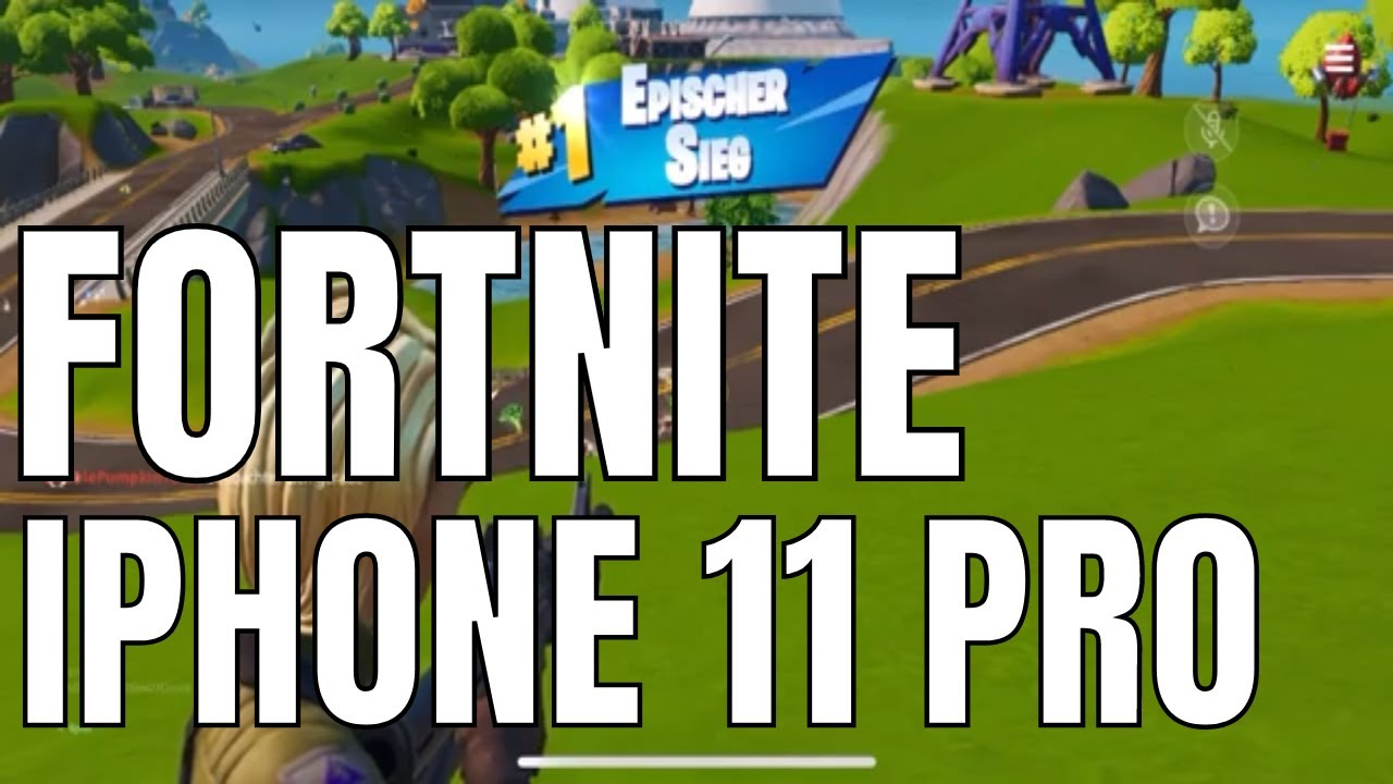 Fortnite iPhone 11pro Epic Victory