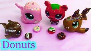 getlinkyoutube.com-Littlest Pet Shop Play Doh DONUTS  Custom DIY Mini LPS Food Playdoh