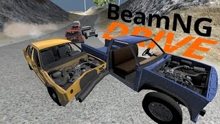 getlinkyoutube.com-BeamNG  - Banger Races! - Demolition Derby Sunday Cup - Wrong Turn Raceway - BeamNG Drive Gameplay