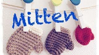 getlinkyoutube.com-ミニチュア手袋の編み方 How to crochet a miniature mitten  by meetang