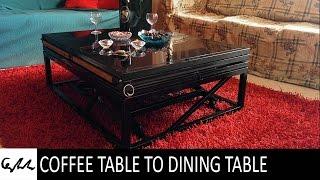 getlinkyoutube.com-Coffee table to dining table