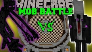 getlinkyoutube.com-SLENDERMAN VS MUTANT ENDERMAN & ENDERMAN - Minecraft Mob Battles - Creepy Pasta Mods