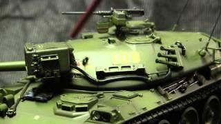 Motorized 1/35th scale Vintage Tamiya JGSDF Type 74 Main battle tank