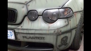 getlinkyoutube.com-AIRBRUSHING PLASTIDIP ONTO AN ALREADY DIPPED CAR.  BY PLASTICIT