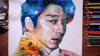 getlinkyoutube.com-Dokkaebi : Kim Shin(Gong Yoo) - Colored pencil drawing | drawholic