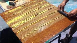 getlinkyoutube.com-Faux Oak Wood Grain Creative Painting Techniques