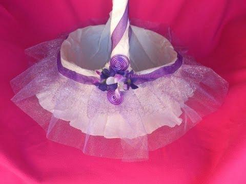 Como hacer cestas para celebraciones ( detalles de bodas, comunión, bautizos, 15 años )