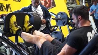 getlinkyoutube.com-Sergi Constance VLOG 10 Crazy LEG Workout and lunch with Chris Cormier
