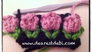 getlinkyoutube.com-Crochet Flower Bud Popcorn Stitch