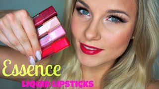 getlinkyoutube.com-Budget Brilliance ♥ Essence Liquid Lipsticks Swatches