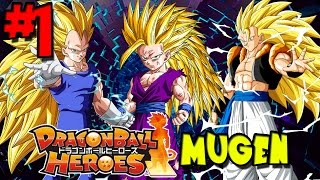 ONE OF THE BEST DBZ FREE GAMES EVER! | Dragon Ball Heroes: MUGEN - Episode 1