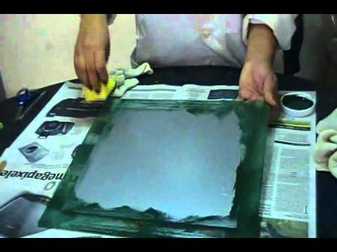 Aplicacion de color en Vidrio Grabado, Satinado, Esmerilado, Glass Etching, Glass Frosting.wmv