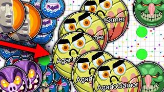 getlinkyoutube.com-Agar.io - New Trick, Doublesplit, Popsplits King, Insane Moments, (Server private 1,000+ bots)