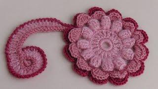 getlinkyoutube.com-Мотив для ирландского кружева.Урок вязания крючком.Motive for Irish lace.