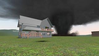 getlinkyoutube.com-Gmod Tornado Survival | House Smashed! (gDisasters)