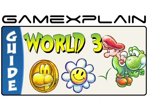 Yoshi's New Island - All World 3 Flowers & Red Coins - 100% Guide & Walkthrough (3DS)