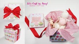 getlinkyoutube.com-緞帶禮物盒子教學(可裝翻轉方塊), Gift box with ribbon