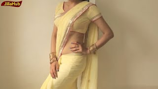 getlinkyoutube.com-How To Wear Sari To Look Hot:DIY Perfect Saree Drape Step By Step Classes(JiilaHub)