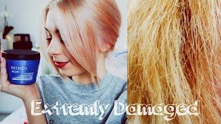 EXTREM kaputte Haare reparieren// Tönen OHNE Chemie
