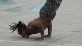 getlinkyoutube.com-Guy Flips Over 7 People & Stands On His Face - Street Performers -